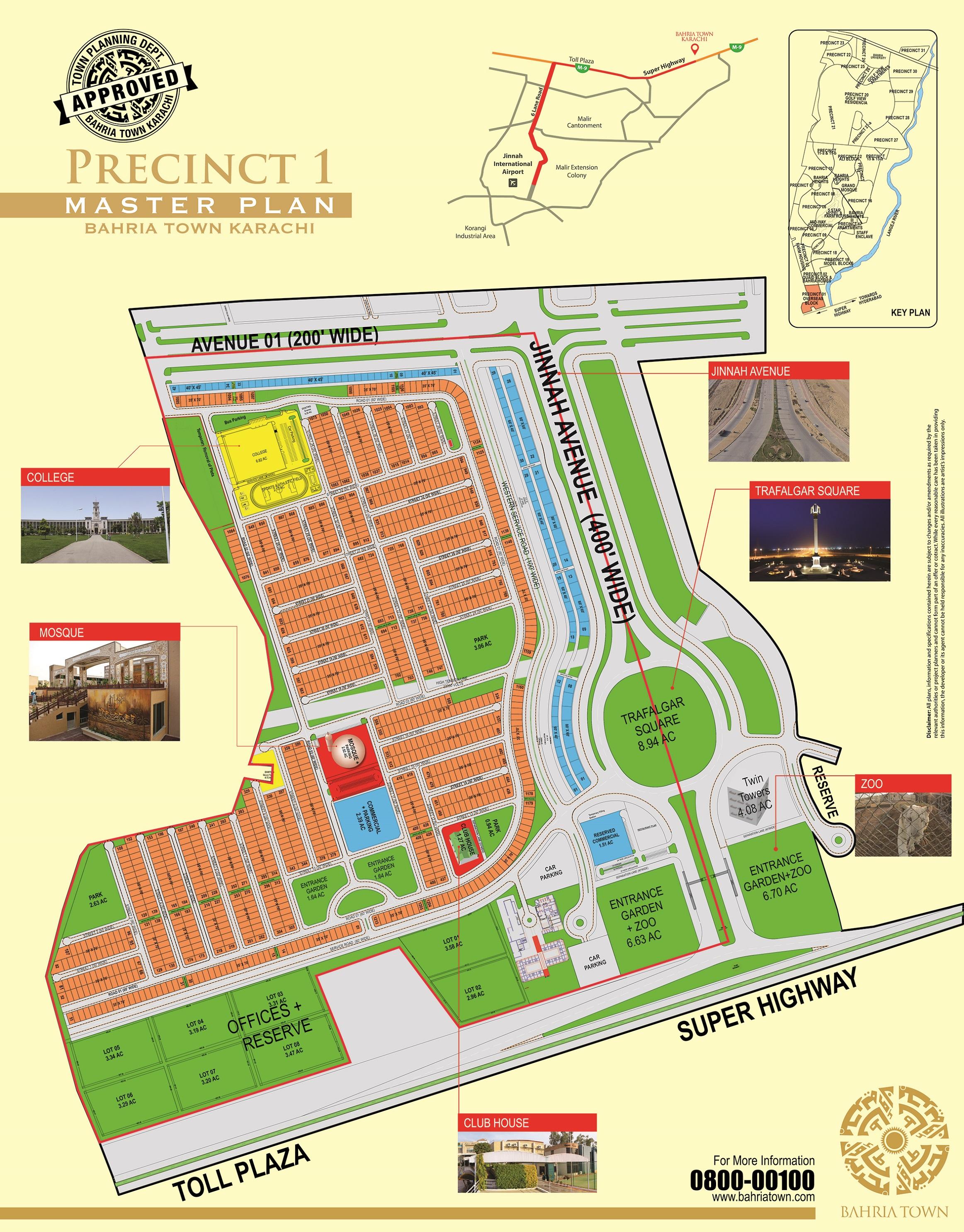 Bahria Town Karachi All Precincts Maps Manahil Estate - All maps