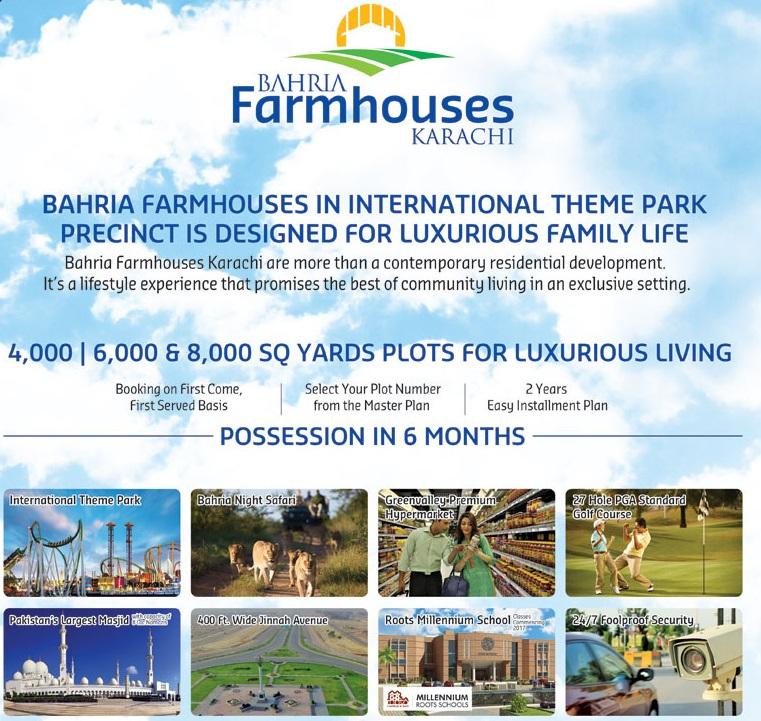 Bahria Farm Houses Karachi - Map, Location and Payment Plan