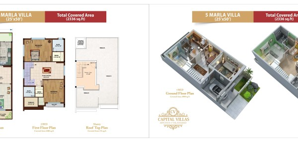 Capital Villas Floor and Layout Plan 5 Marla