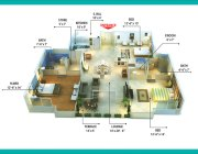 Type A1 3 Bedrooms Plan