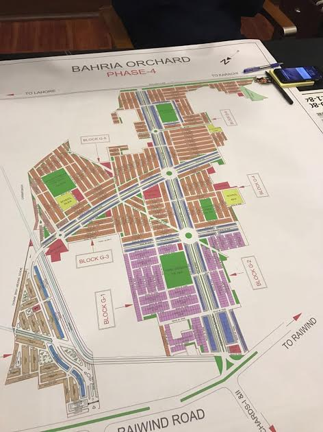 Bahria Orchard Phase 4 Lahore Map