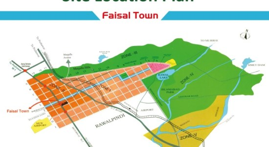 Faisal Town Location Map