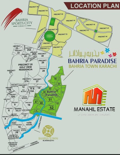 bahria town karachi revised masterplan map