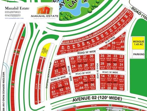 Bahria-Town-Karachi-Precinct-18-Theme-Park-Commercial-Map