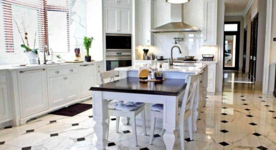 Beautiful Floor Design Marble White