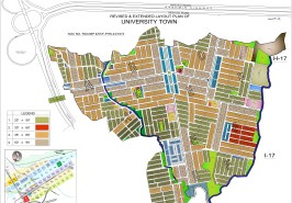University Town Islamabad Map