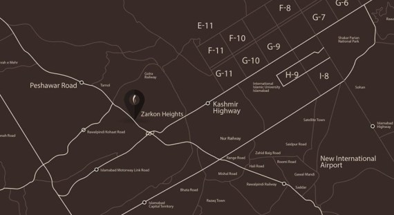 Zarkon Heights Islamabad Location Map