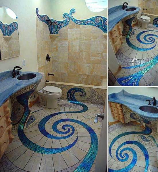 Beautiful Floor Design for Bathroom