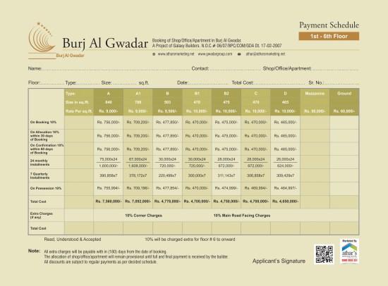 Burj Al Gwadar Payment Plan