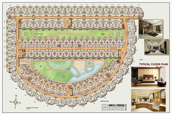 Centrium Apartments Typical Floor Plan