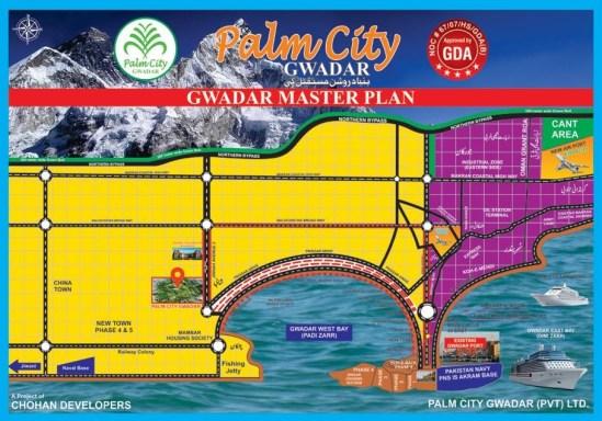 Palm City Gwadar Housing Scheme Location Map