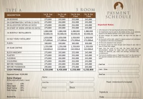 Type A - 5 Rooms Apartment Payment Plan