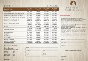Type B - 4 Rooms Apartment Payment Plan