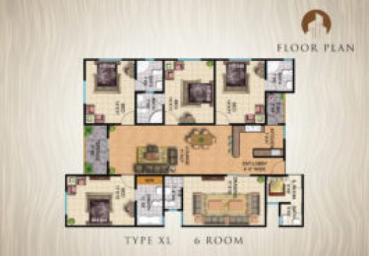Type-XL-6-Rooms-Apartment-Layout-Plan