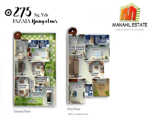 Fazaia Bungalows 275 SQY Layout Plan