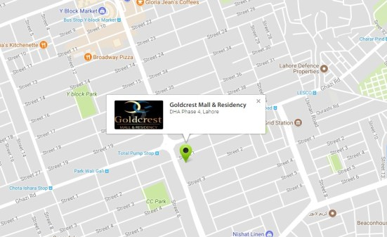 Goldcrest Mall & Residency Location Map
