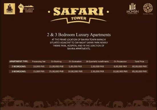 Safari Tower Apartments Payment Plan