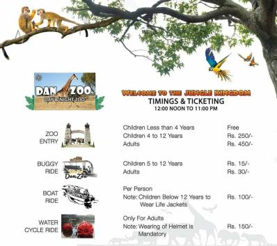 Bahria Danzoo Ticket and Ride Rates