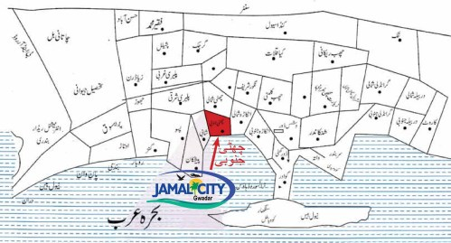 Jamal City Gwadar Location Map