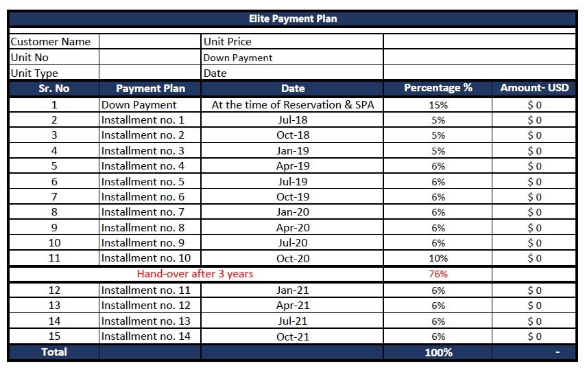 Eighteen Islamabad Payment Plan