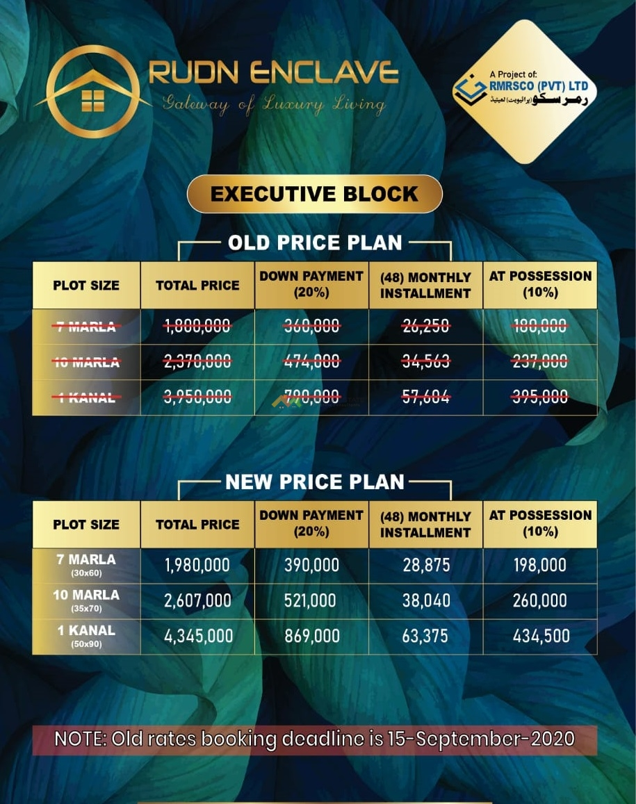 Rudn Enclave Executive Block Revised Prices