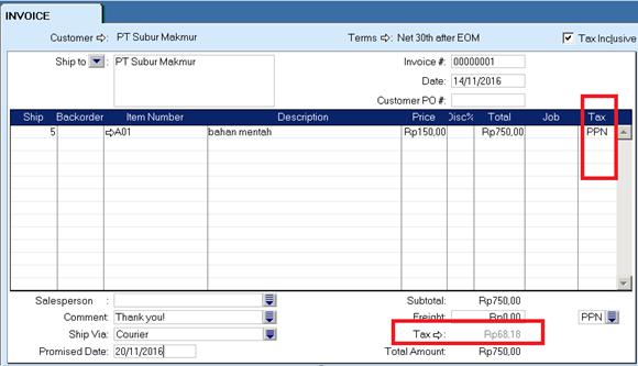 cara menghitung pajak di software akuntansi - MYOB Accounting