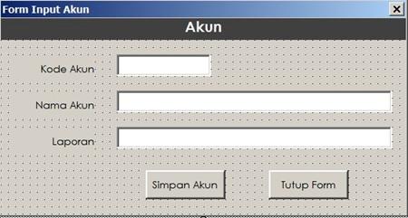 langkah 7 - membuat form input data