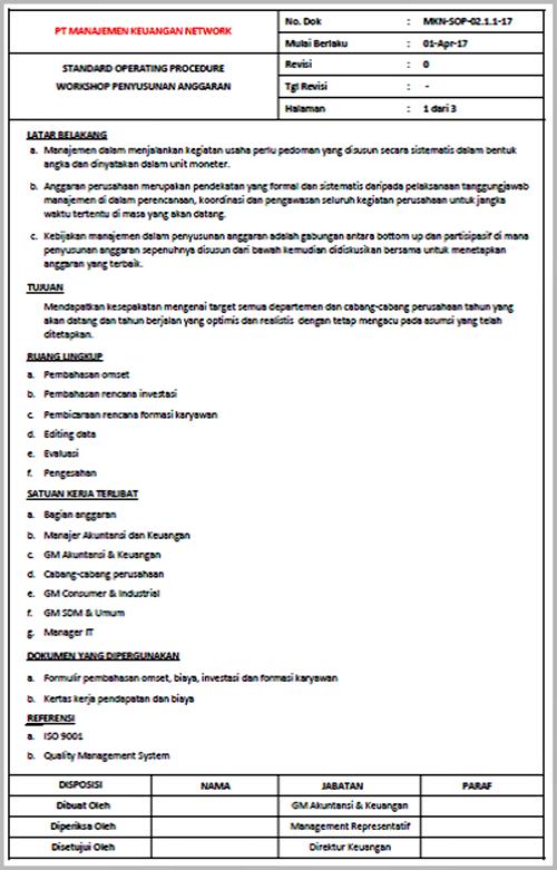 SOP Workshop Penyusunan Anggaran - halaman - 01