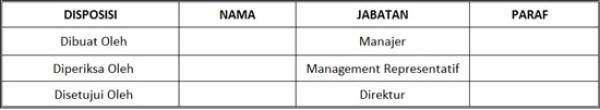 Contoh SOP Pelatihan Karyawan Perusahaan - pengesahan