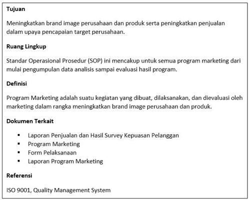 Contoh SOP Marketing - Strategi Pemasaran Produk Baru Iklan