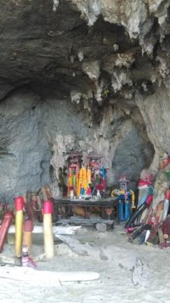 Phallus Shrine at Phra Nang beachPhallus Shrine at Phra Nang beach