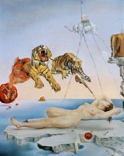 """Dream caused by the Flight of a Bee..."" by Salvador Dali at Museo Thyssen-Bornemisza"