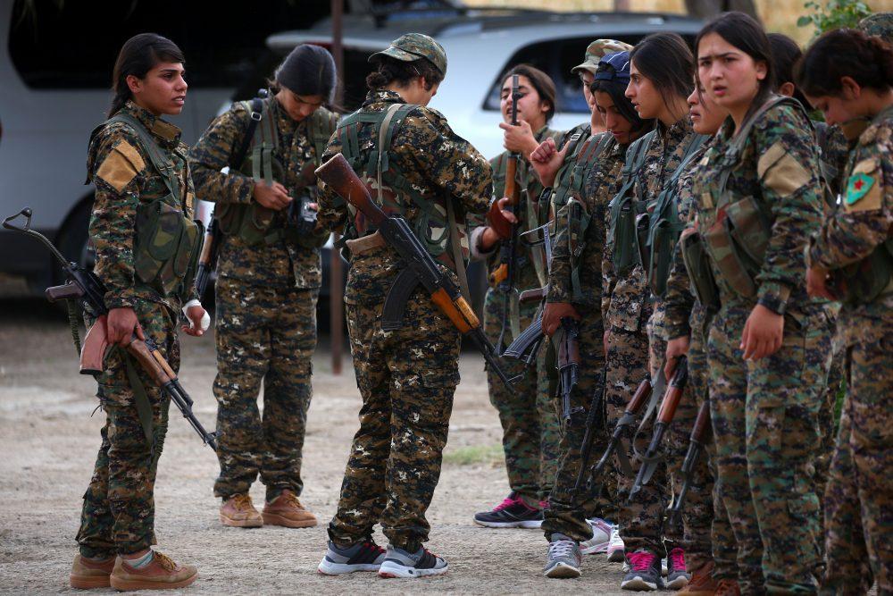 Kurdish women in the military.
