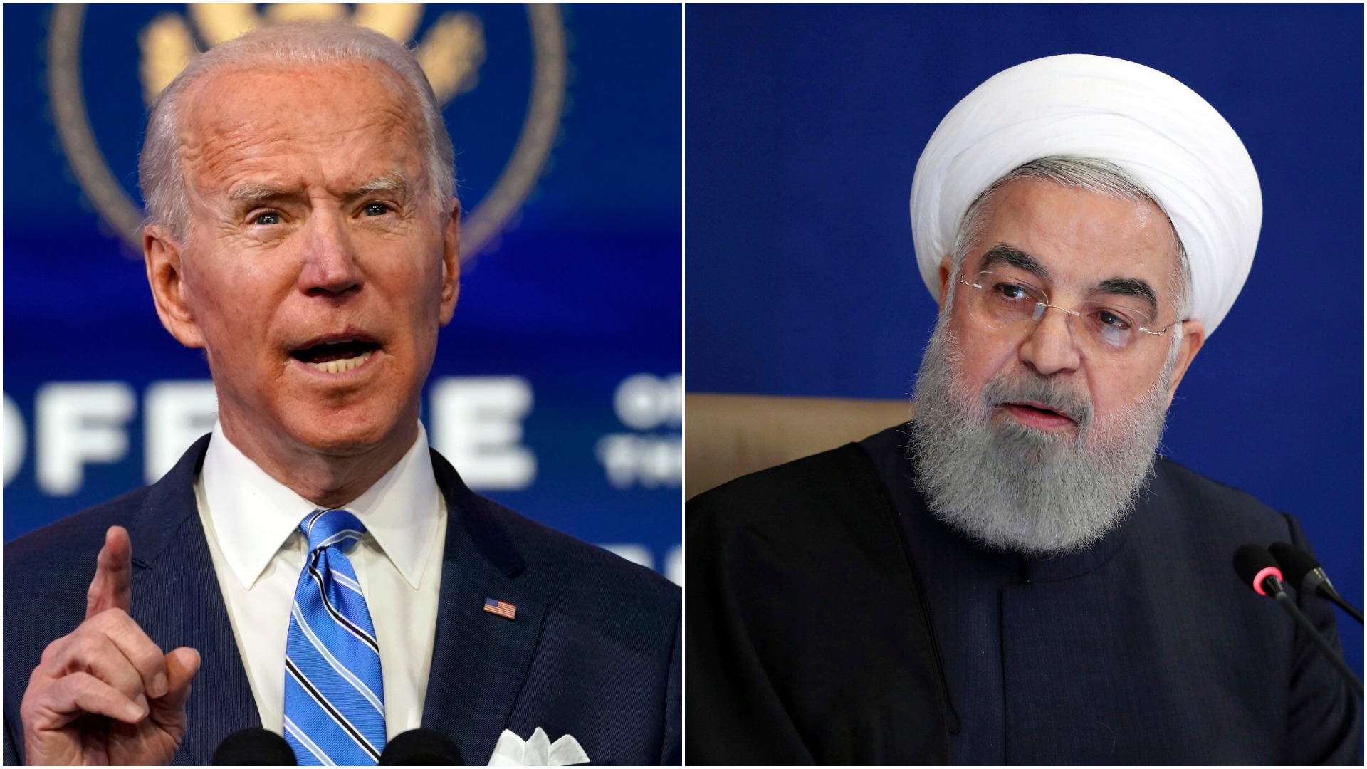 President-elect Biden (left) and President Rouhani (right)