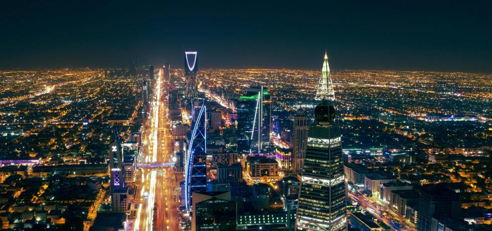 Riyadh by night.