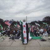 The Fifth Anniversary of the Syrian Revolution In front of Lincoln Memorial.