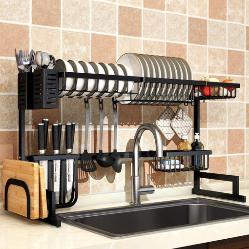 dish drying rack over sink drainer shelf for kitchen