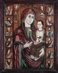 Maica Domnului cu Pruncul - icoana din catapeteasma bisericutei de lemn
