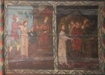 Patimile Mantuitorului - fragment din pictura bisericutei de lemn