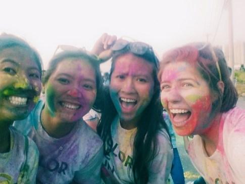 Selina, Ha, Linh and me mid-run
