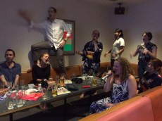 Karaoke, the group is in good form!