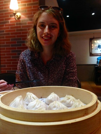 Annin with some xiaolong bao