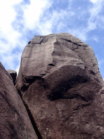 Tachudake - a big old rock and a very blue sky