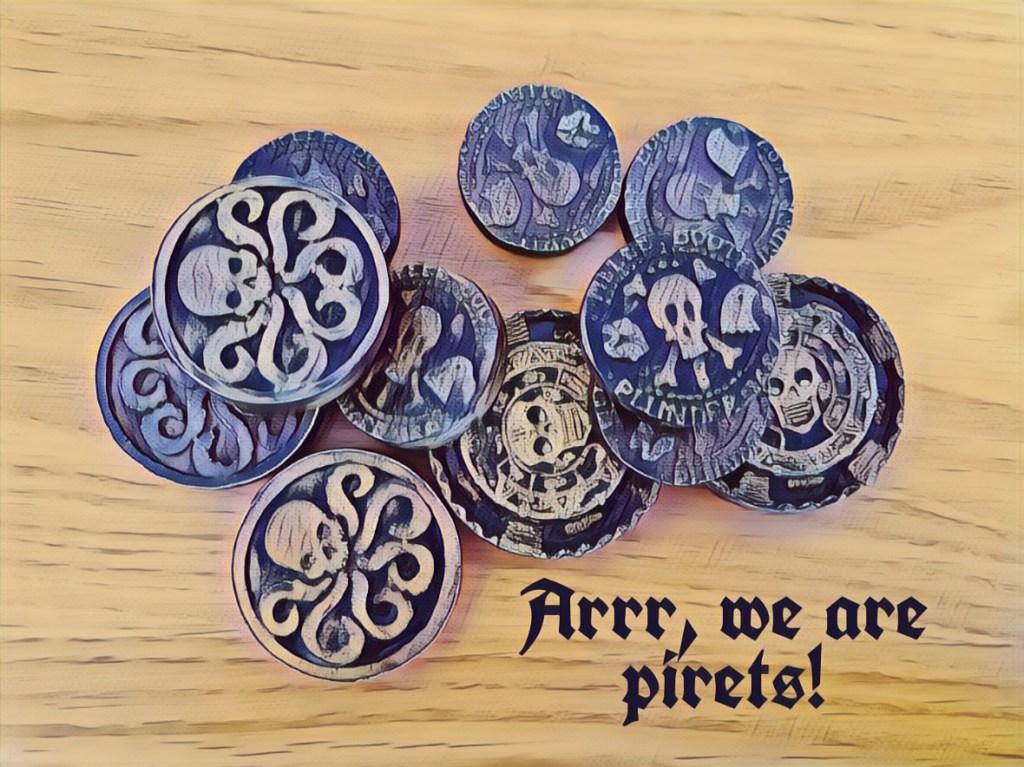 """מטבעות הפיראטים מתוך חדר הבריחה """"הפיראטים – לב של קפטן QASE """""""