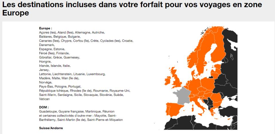 Monténégro - Forfait Europe