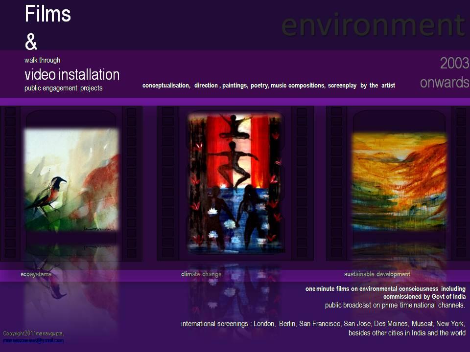 manav gupta films on environment consciousness | sustainable development | Films Gupta Manav