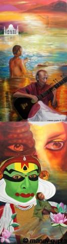 The Cultural Spiritual Indian, Bhutan India Friendship Mega Mural, Manav Gupta