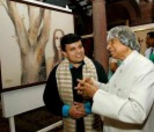 Manav-Gupta-2004-chronology-exhibition-in-Rashtrapati-Bhavan-inaugurated-by-former-President-Dr.-A-P-J-Abdul-Kalam-2