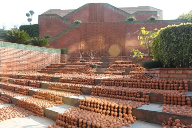 Manav Gupta Public Art Installations Excavations in hymns of clay waterfront India Habitat Centre
