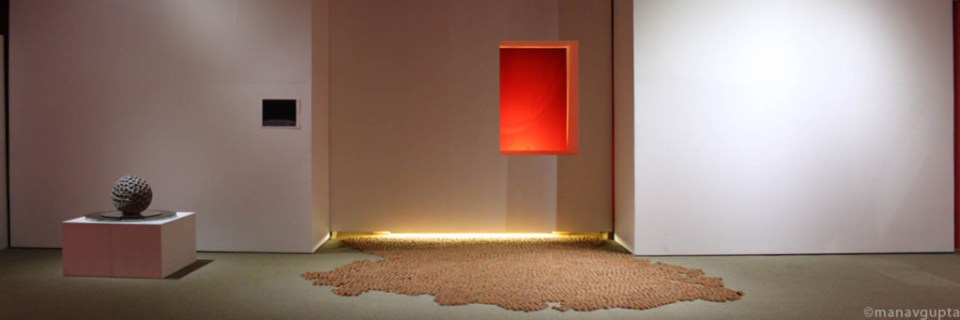 Installation using earthen lamps as a metaphor, the unsung hymns of clay by manav gupta